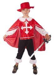 Rappa Kostým mušketier červený veľ. M