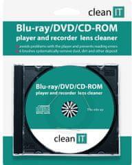 Clean IT Čisticí CD pro Blu-ray/DVD/CD-ROM přehrávače CL-320