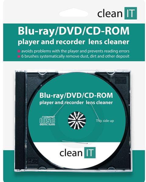 Clean IT Čisticí CD pro Blu-ray/DVD/CD-ROM přehrávače CL-32