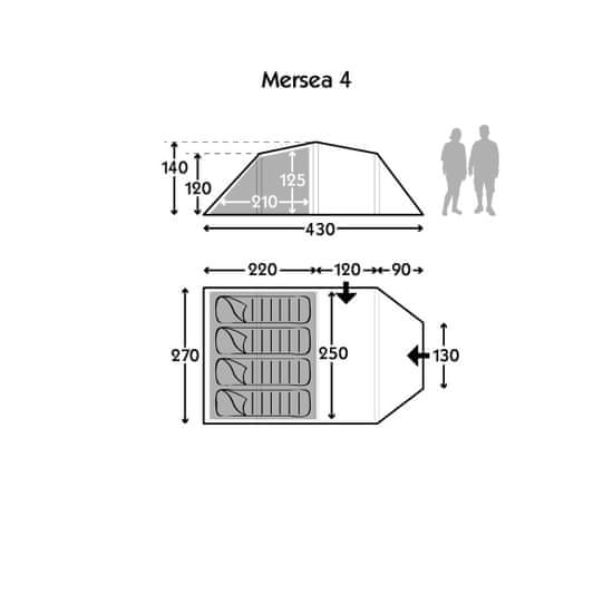 Kampa šotor Mersea 4 2019