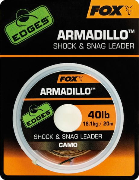 Fox Návazcová Šňůrka Armadillo Camo 20 m 40 lb, 18,1 kg