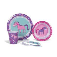 Kampa jedilni set Unicorns, otroški