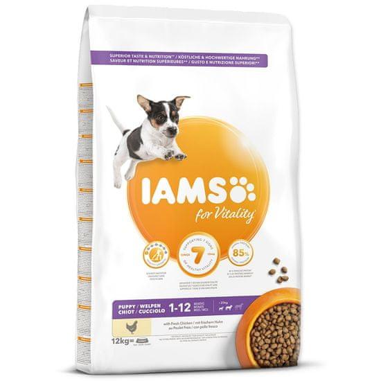 IAMS hrana za pse Dog Puppy Small&Medium Chicken, 12 kg
