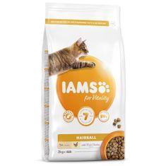 IAMS hrana za mačke Cat Adult Hairball Chicken, 2 kg