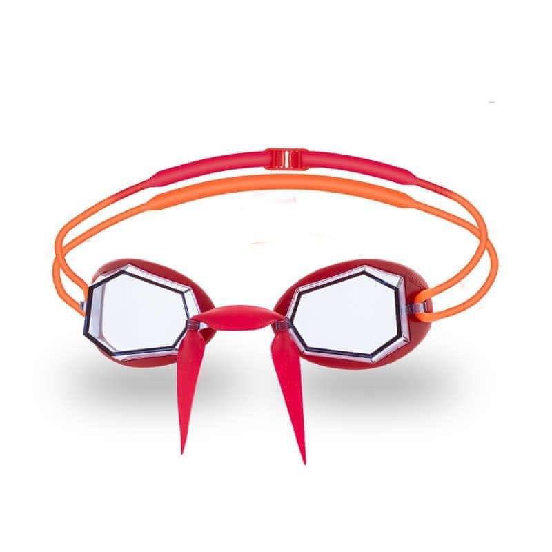 Head Brýle plavecké DIAMOND, červená/oranž