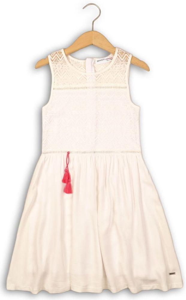 Minoti dívčí šaty 146 bílá
