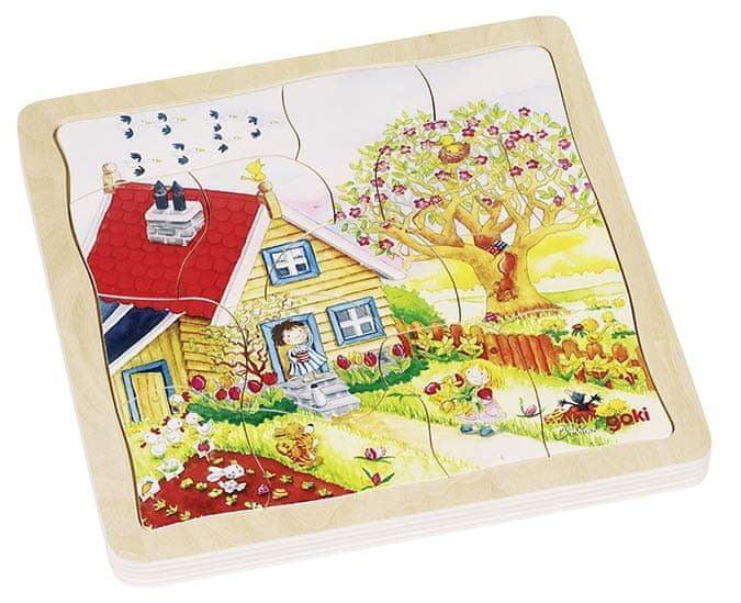 Goki Vícevrstvé puzzle - Roční období