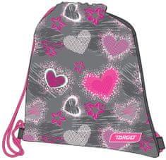 Target vrečka za copate Grey Hearts 26276