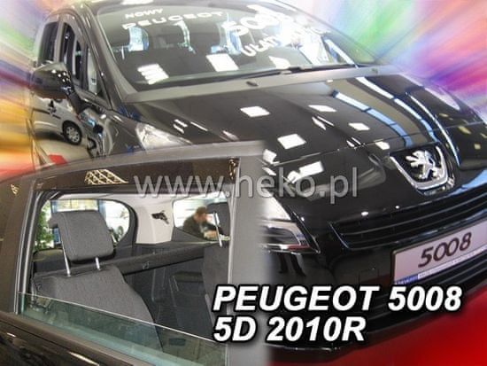 HEKO Deflektory okien Peugeot 5008 2009-2017 (4 diely)