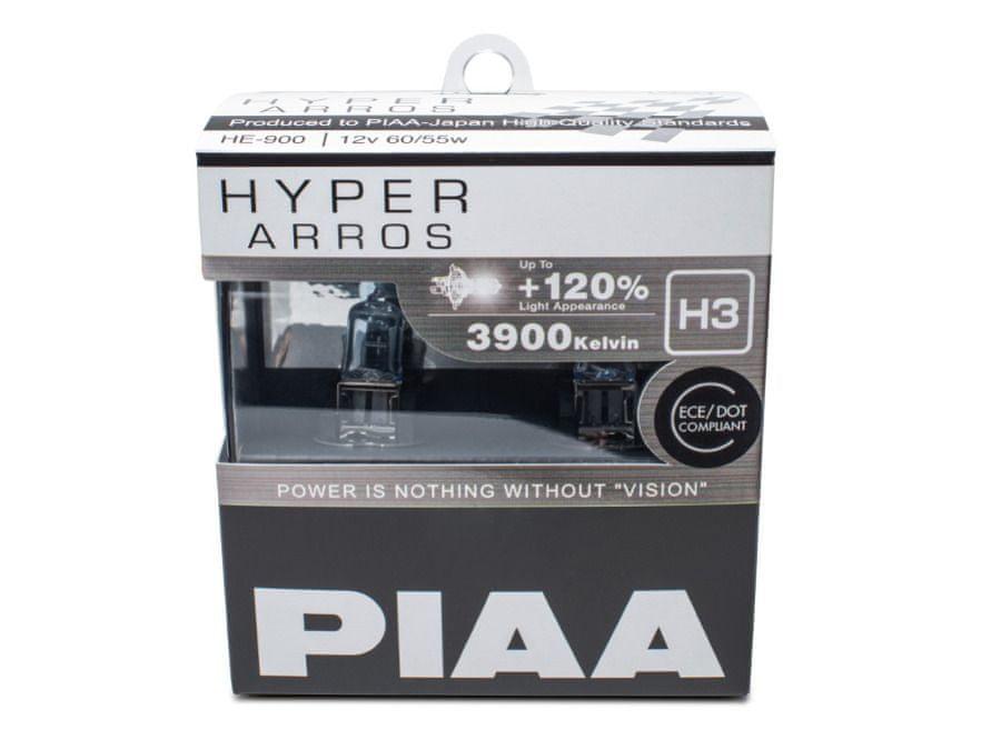 PIAA autožárovky Hyper Arros 3900K H3, 2 kusy
