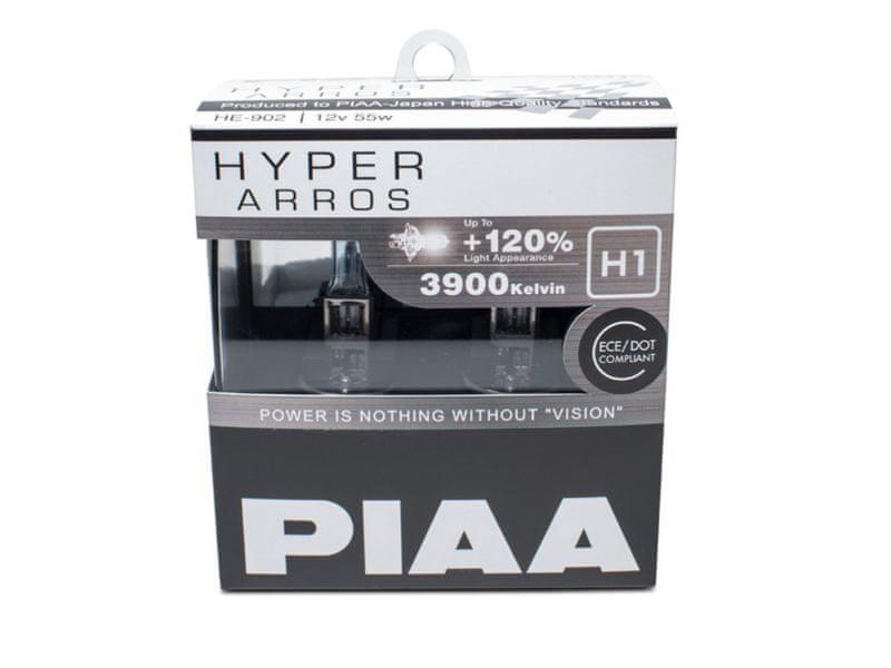 PIAA autožárovky Hyper Arros 3900K H1, 2 kusy
