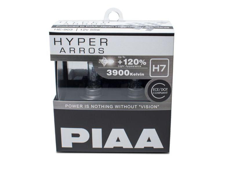 PIAA autožárovky Hyper Arros 3900K H7, 2 kusy