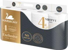 Harmony Toaletný papier EXCLUSIVE PURE WHITE 7x8 roliek, 4-vrstvový