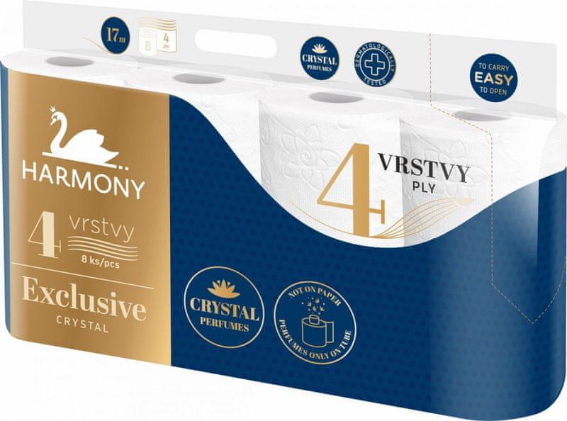 Harmony Toaletní papír EXCLUSIVE Crystal Parfumes 7x 8, 4vrstvý