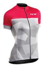 Northwave kolesarska majica Origin Woman Jersey Short Sleeves, L, roza/siva