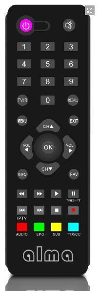 Alma 2860 DVB-T/T2 (HEVC) přijímač