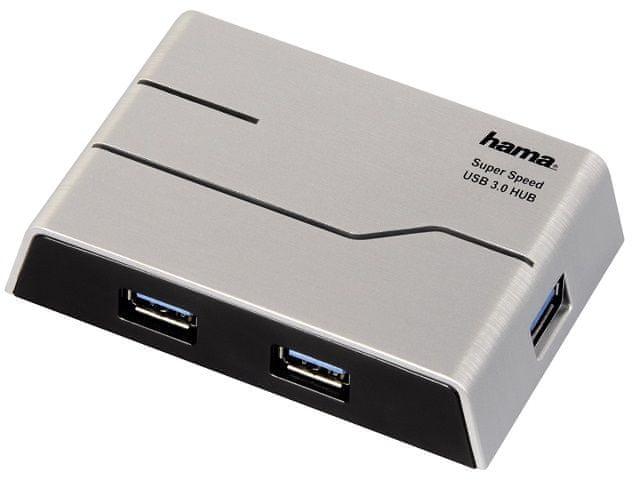 Hama USB 3.0 Hub 1:4, s napájením, černý 39879