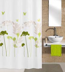 Kleine Wolke Tekstylna zasłona prysznicowa BARCELONA 180 x 200 cm koniczyna