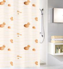 Kleine Wolke Tekstylna zasłona prysznicowa MIAMI 180 x 200 cm beż
