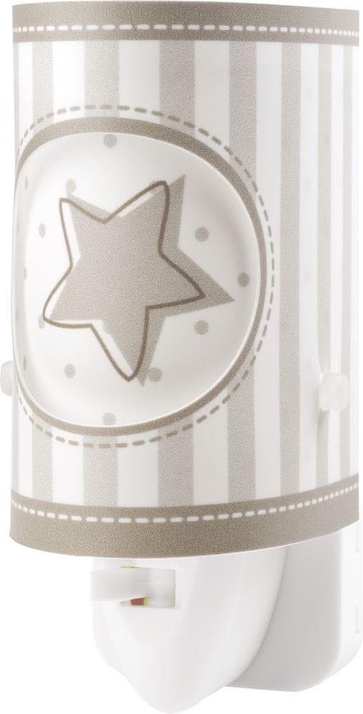 Dalber Dětské noční světlo LED Měsiční svit 63223L, šedá