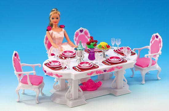 Lamps zestaw mebli dla lalki Glorie, jadalnia