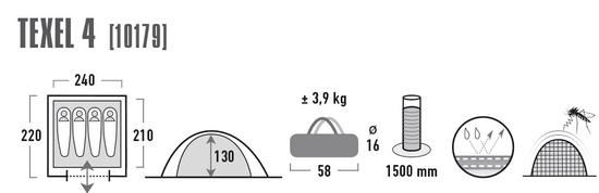 High Peak namiot Texel 4