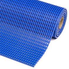 Modrá bazénová protiskluzová rohož Akwadek - 10m x 122 cm x 1,2cm