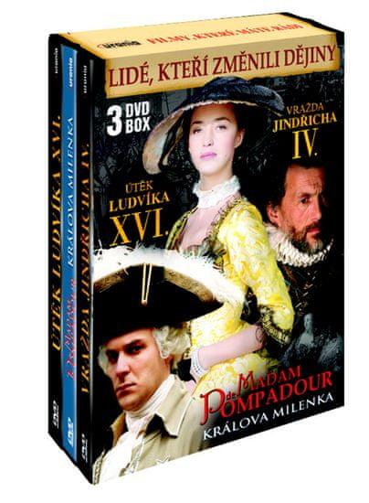 Lidé, kteří změnili dějiny (3DVD): Útěk Ludvíka XVI. + Vražda Jindřicha IV. + Madam de Pompadour