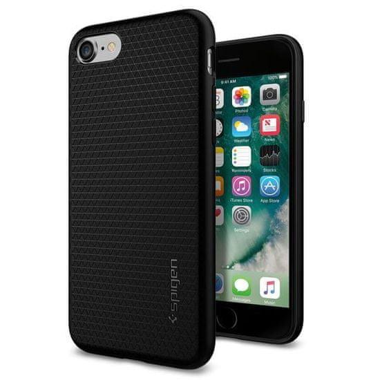 Spigen Liquid Air Védőtok Apple iPhone 8/7/SE 2020 telefonokhoz, fekete 042CS20511