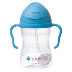b.box Sippy cup hrnček so slamkou modrá