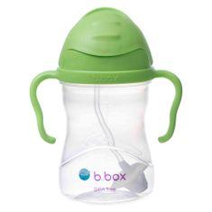 b.box Sippy cup hrneček s brčkem zelená