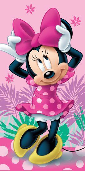 """Jerry Fabrics Osuška Minnie """"pink 02"""""""