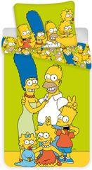 """Jerry Fabrics Povlečení The Simpsons Family """"Green"""""""