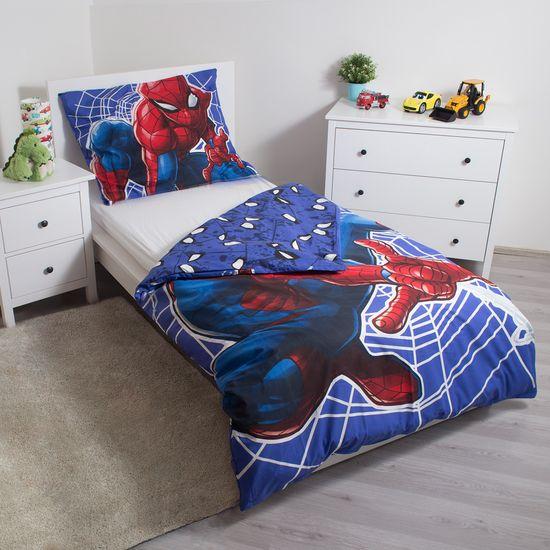 Jerry Fabrics posteljnina Spider-man - svetleči efekt