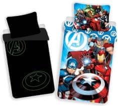 Jerry Fabrics Povlečení Avengers - svítící efekt