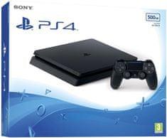 Sony Playstation 4 Slim, 500GB, črn, (PS719407775)