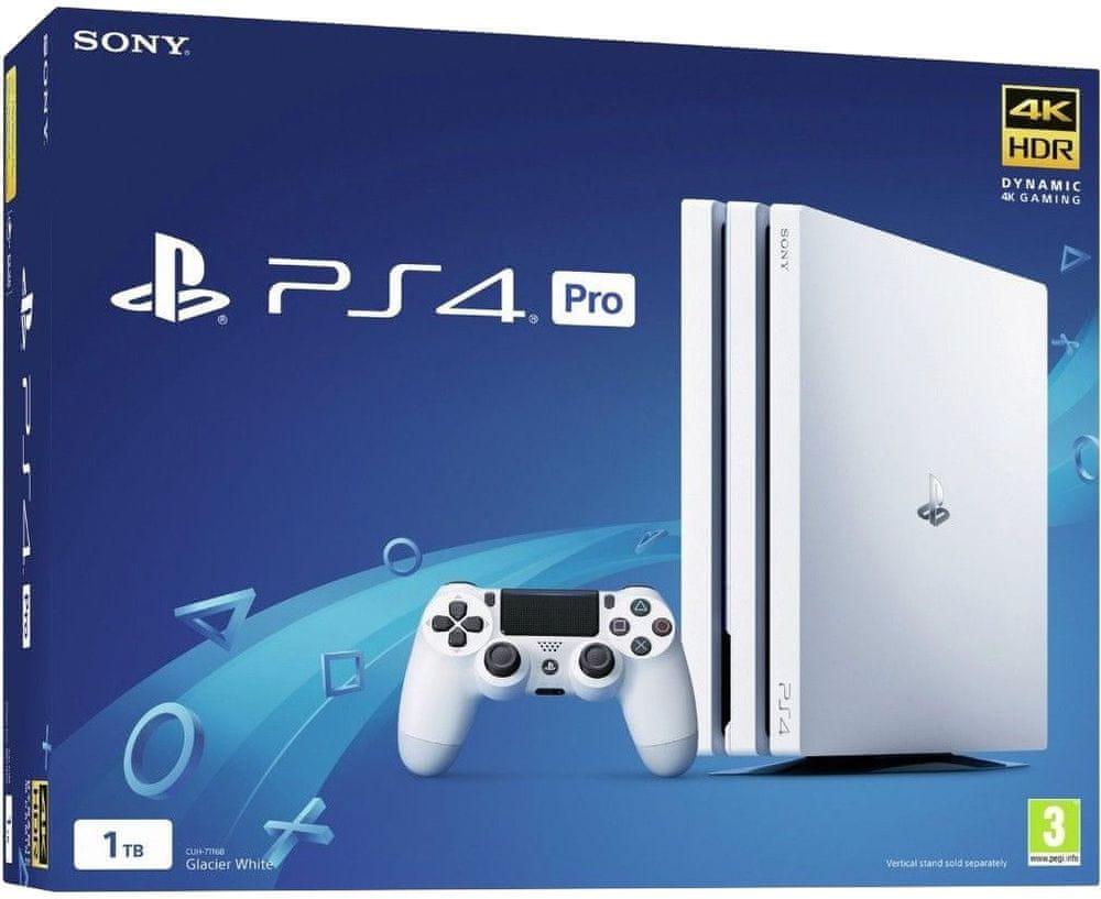 Sony PlayStation 4 Pro - 1TB, bílá - rozbaleno