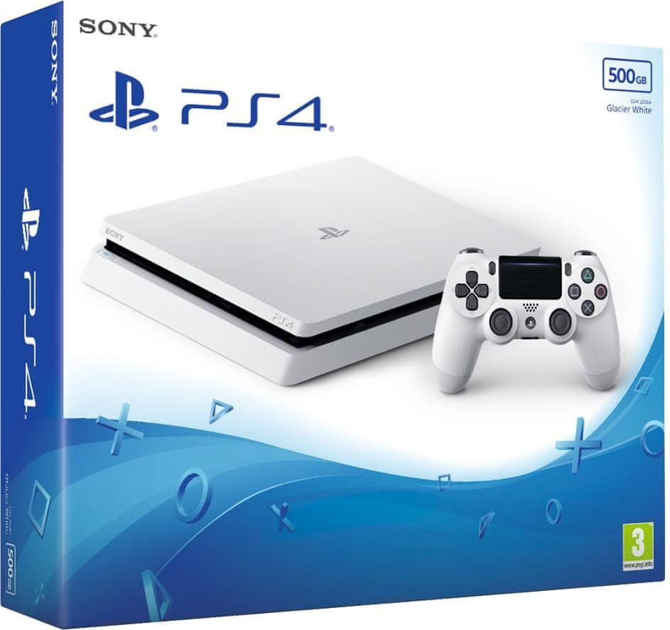 Sony Playstation 4 Slim - 500GB White, (PS719755517)