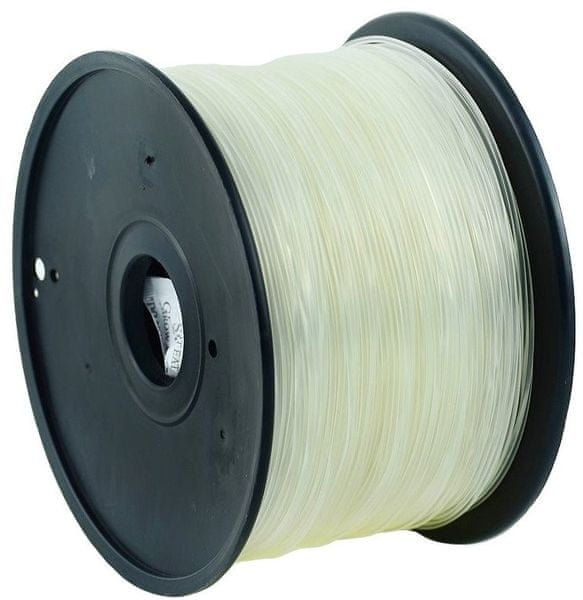 Gembird tisková struna (filament), ABS, 1,75mm, 1kg, průhledná (3DP-ABS1.75-01-TR)