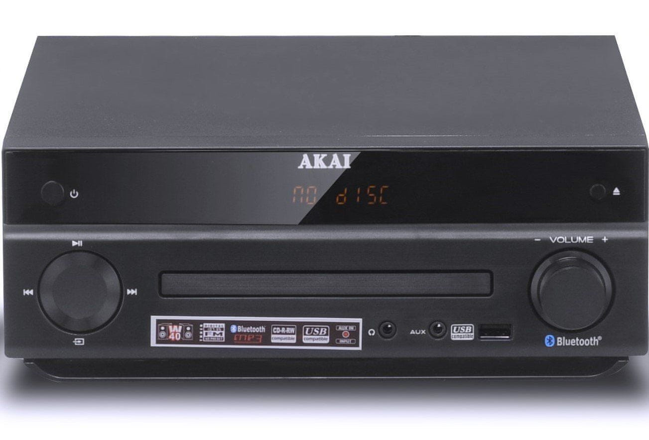 MICRO SYSTEM DIGITAL FM TUNER / CD / MP3 / BLUETOOTH / USB AKAI AM-301 W