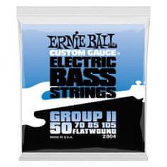 Ernie Ball 2804 BASS Flatwound II 50/105 - hlazené struny