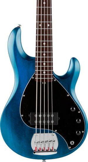 Sterling by MusicMan SUB StingRay5 Trans Blue Satin, Rosewood Fretboard