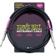"""Ernie Ball 6048 10"""" Instrument Classic Cable - nástrojový kabel rovný / rovný jack - 3.05m"""