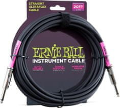 Ernie Ball 6046 20' Instrument Classic Cable - nástrojový kabel rovný / rovný jack - 6.09m v černé barvě