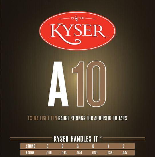 Kyser USA EXTRA LIGHT A10, 92/8 phosphor bronze, 10-47 - struny na akustickou kytaru