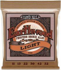 Ernie Ball 2148 Earthwood .011-.052 Light Phosphor Bronze Acoustic Strings