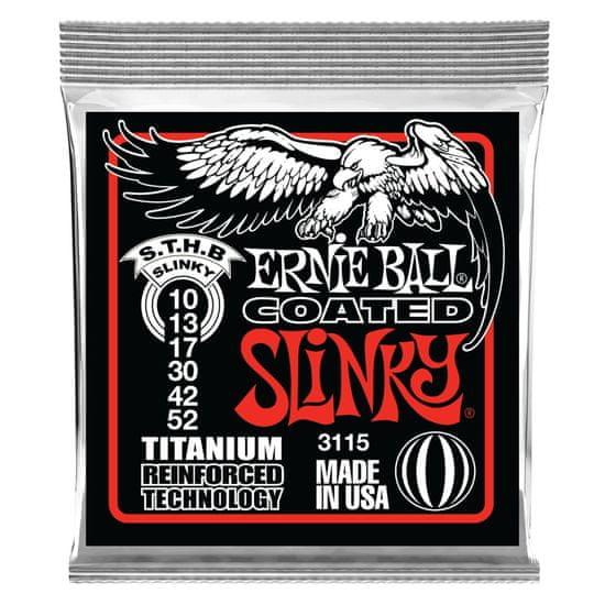 Ernie Ball 3115 Coated Electric Titanium RPS Skinny Top Heavy Bottom Slinky .010 - .052 struny na elektrickou kytaru