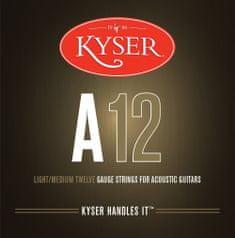 Kyser USA LIGHT/MEDIUM A12, 92/8 phosphor bronze, 12-53 - struny na akustickou kytaru