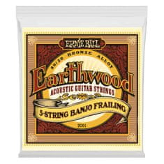 Ernie Ball 2061 2061 Earthwood 5-String Banjo Frailing Loop End 80/20 Bronze Acoustic Guitar Strings