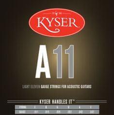 Kyser USA LIGHT A11, 92/8 phosphor bronze, 11-52 - struny na akustickou kytaru